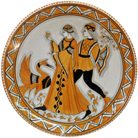 Fusari-Piatto-Arancio