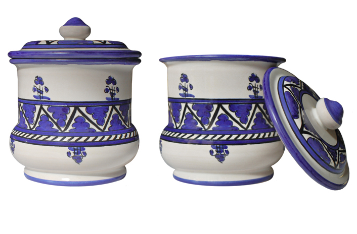 Violet Jar with Lid