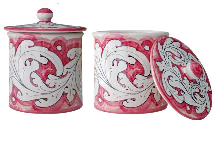 Vaso/Contenitore Cilindrico Rosa