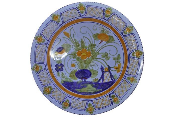 Piatto Floreale Grande con Bordo