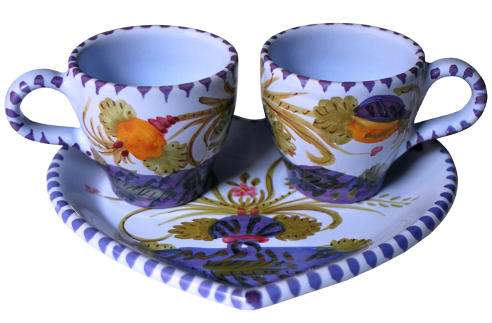 Floral Espresso Set for Two
